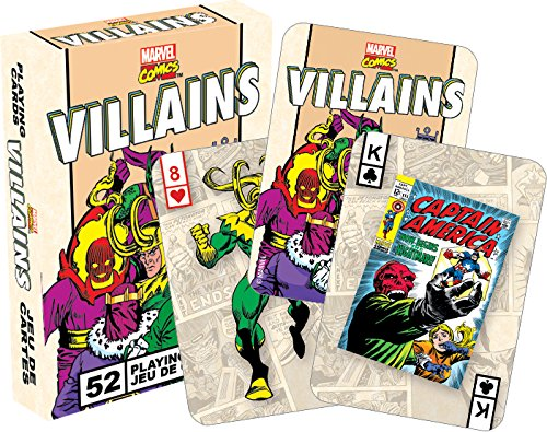 Aquarius Marvel Villains Retro Playing Cards