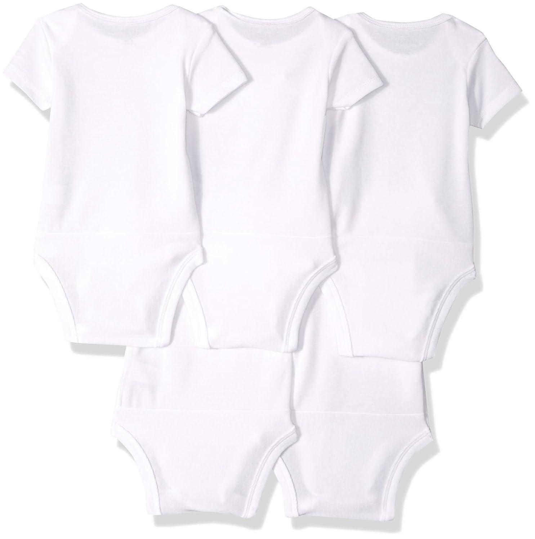 Hanes Ultimate Baby Flexy 5 Pack Short Sleeve Bodysuits