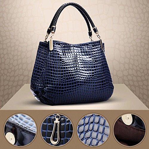 Femme bleu Sac Bandoulière à Main Vogue Sac Simple Femme Main Epaule à Cuir en Fourre PU Sac Portes junkai tout 0Hq4Wxw0