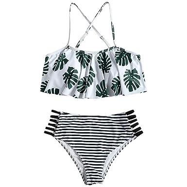 8db11d648e1f Damark(TM) Bañador de Mujer, Bikini Mujer Push up Dos Piezas Chicas  Adolescentes Traje de baño