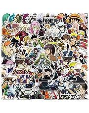 Anime stickers voor kinderen, tieners en volwassenen, 100 stuks, vinyl, cartoon-mix, stickers voor laptop, skateboard, gitaar, bagage, waterfles, telefoon