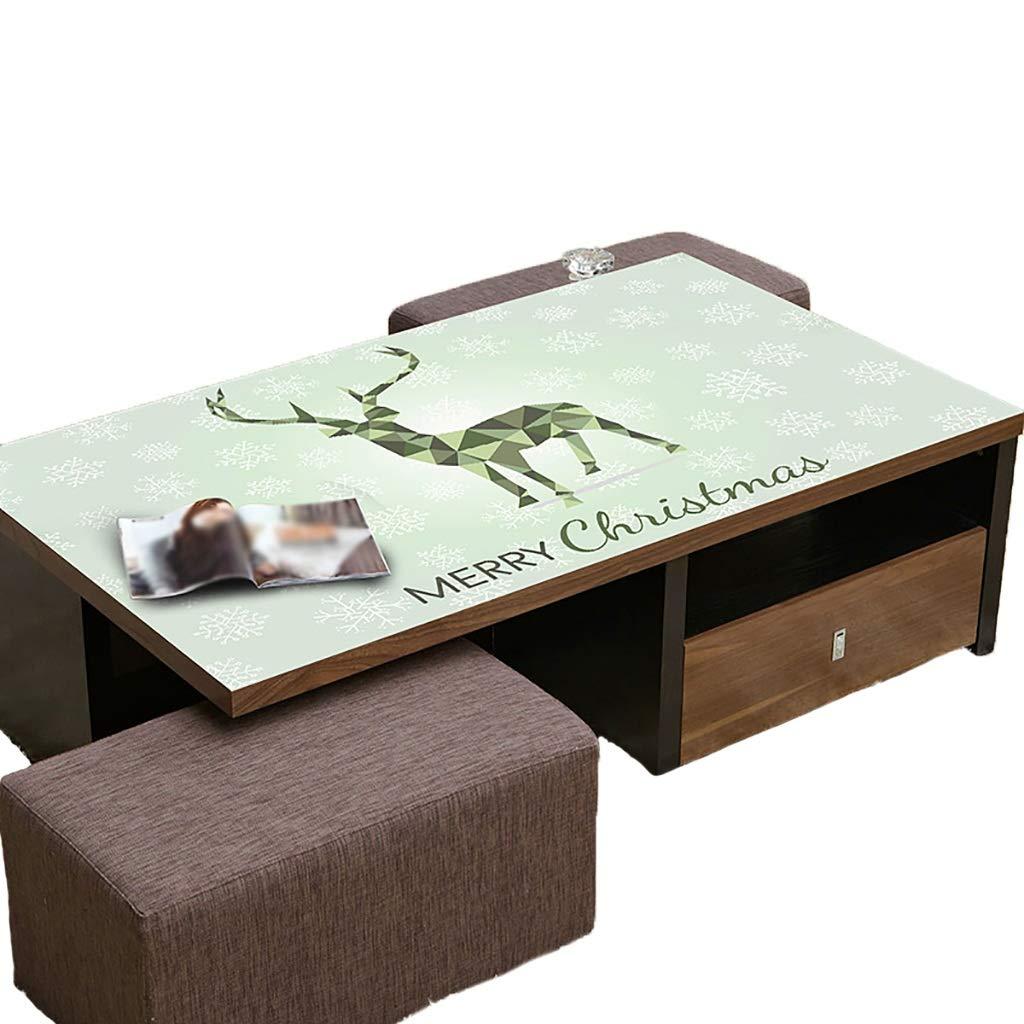テーブルクロスソフトガラスPVC 90x140cm防水アンチホットアンチオイル簡単クリーンテーブルプロテクターコーヒーティーテーブルマットプラスチックテーブルクロス (サイズ さいず : 90x160cm) 90x160cm  B07S4MJFFZ