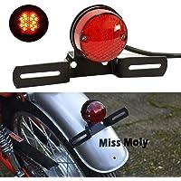 freno de motocicleta Parada Luz trasera trasera universal para motocicletas ATV Dirt Bike Scooter Fumar 12V 15 LED Luz trasera de freno de motocicleta