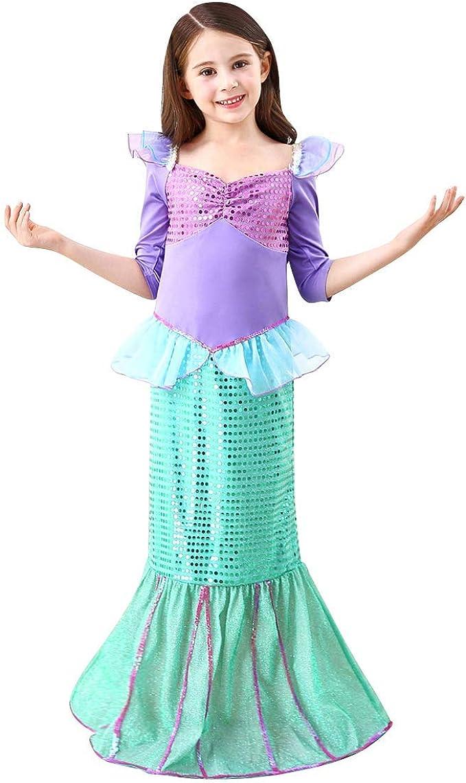 OBEEII Disfraz de Sirena para Niña Vestido de Carnaval Infantil ...