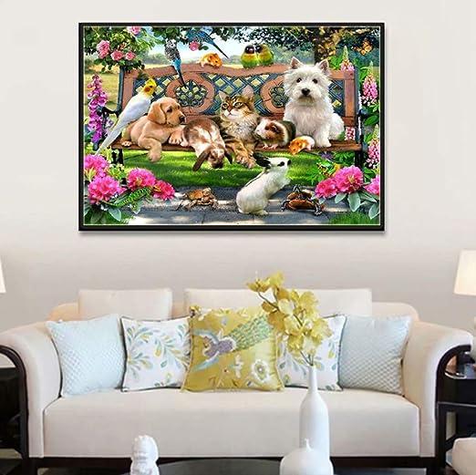 DIY Animal Series Animal Park Full Diamond Cross-Stitch ...
