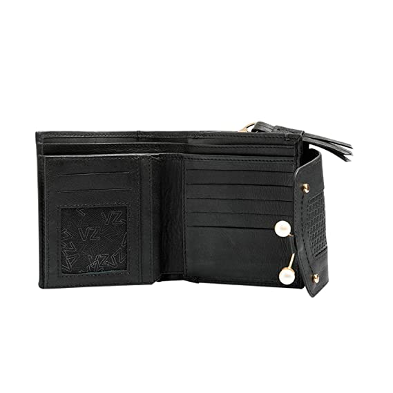 Velez Women Beautiful Genuine Leather Trifold Wallet Credit Card Holder Small Purse Organizer | Billeteras de Cuero Colombiano para Mujeres Black at Amazon ...