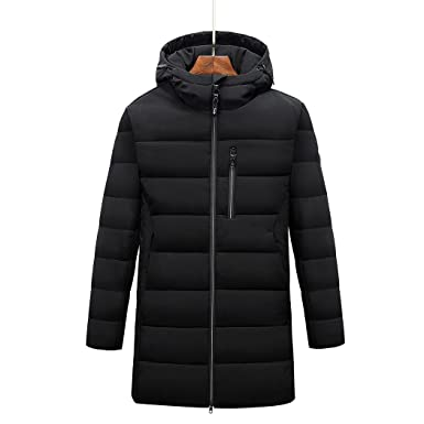81e1653d7 Goorape Men's Long Puffer Coat Hooded Casual Warm Padded Down Jacket ...