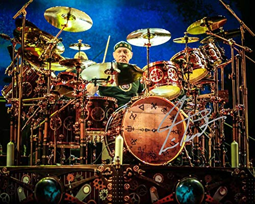 Neil Peart drummer of RUSH reprint signed 8x10 photo #6