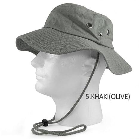 Amazon.com   9Proud Olive Fishing Military Hunting Safari Hat Cap ... c66e637772b