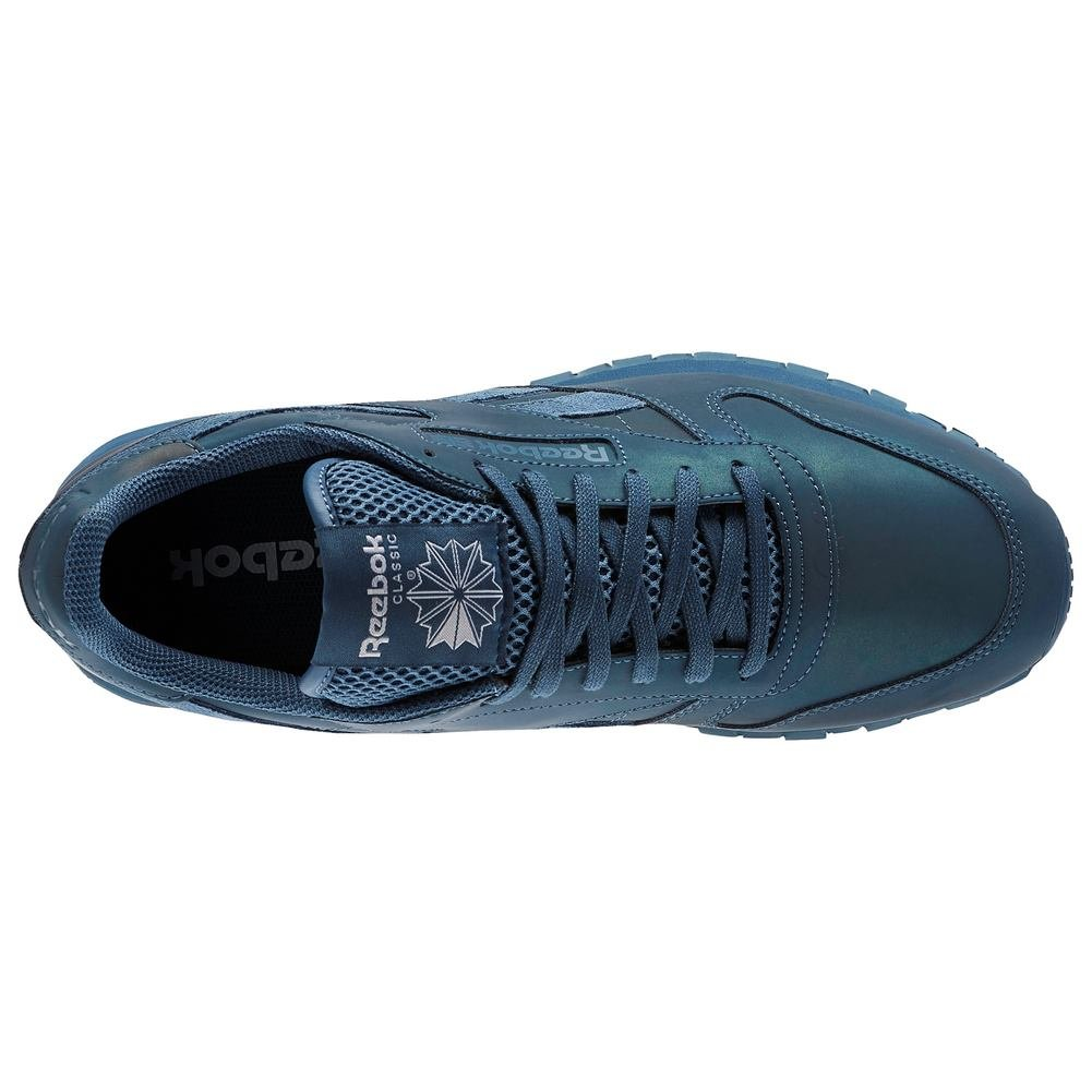 a8e5ce683aebf Reebok Classics Men s Cl Leather PRS Brave Blue and White Leather Sneakers  - 8 UK India (42 EU) (9 US)  Buy Online at Low Prices in India - Amazon.in