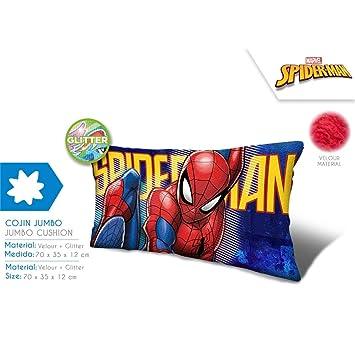 Cojin jumbo Spiderman Marvel velour brillo 70cm: Amazon.es ...