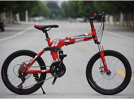 Link Co Bicicleta de montaña Plegable de 20 Pulgadas Frenos de ...