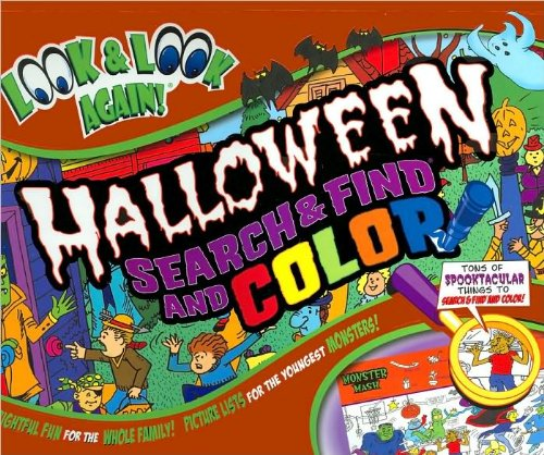 Halloween Search and Find and Color Look and