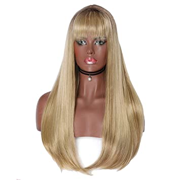 Amazon Com Jhkuno Fashion Women S Wig Dirty Blonde Hair Dark