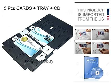 Tclpvc Id Card Tray For Epson L800 L810 Printer 5 Cards Cd