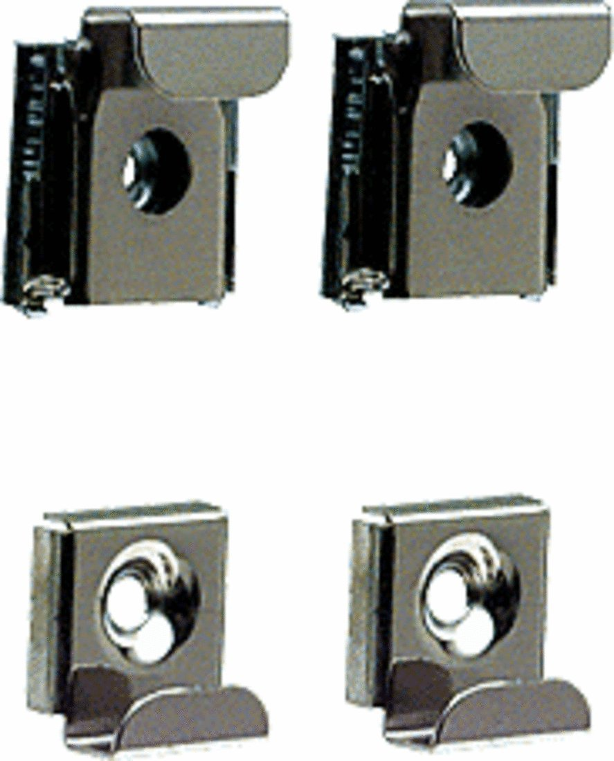 CRL Plastic Lined Mirror Mounting Clips for 1/4'' Glass - Set C.R.Laurence 655KE