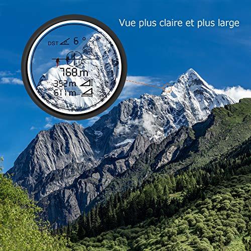Télémètre Golf 800m, TACKLIFE Télescope Monoculaire Chasse 900yd MLR01, Grossissement 7x24mm, Précision de Distance 1m… 7