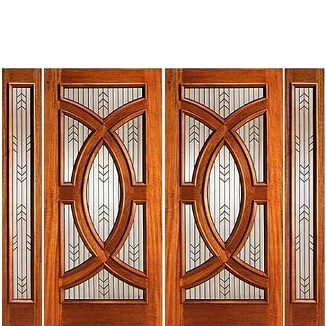 Mahogany Modern and Contemporary Door PL-01-2-2 - AAW Doors Inc