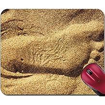 Liili Mousepad Optical illusion footprint in the sand IMAGE ID 9886309