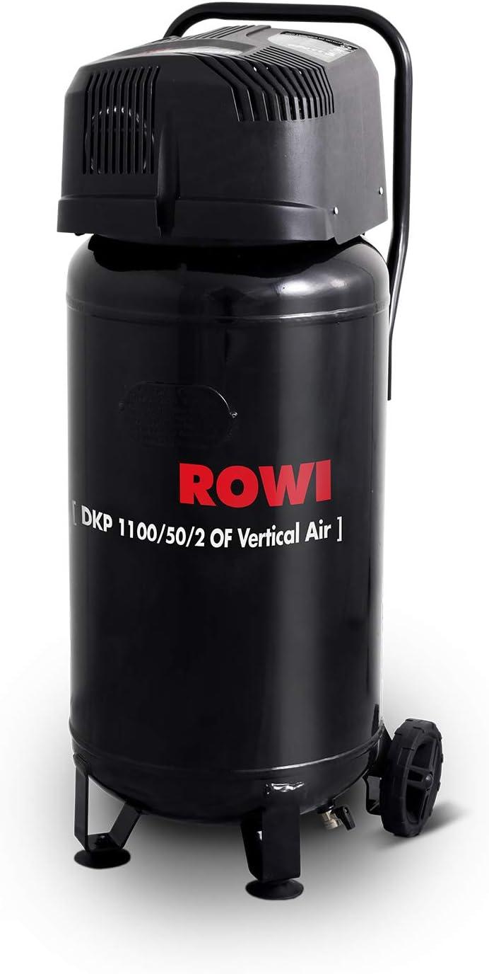 50 Liter Kessel ROWI Druckluft Kompressor 1100W /Ölfrei