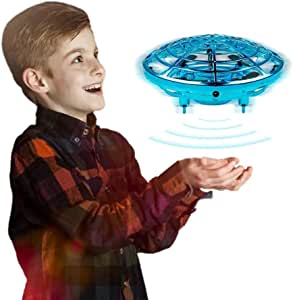 Innoo Tech Kids Drone Hands Operated UFO Drone for Kids or Adults Hands Free Mini Drone Helicopter Suspension Gesture Sensing Aircraft Indoor Flying Ball Drone Toys for Boys or Girls (Blue)