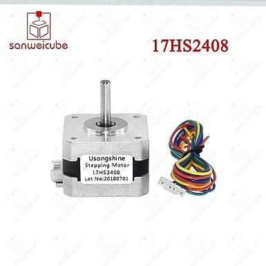 AiCheaX Tool Nema17 17HS2408 - Motor paso a paso de 4 derivaciones ...