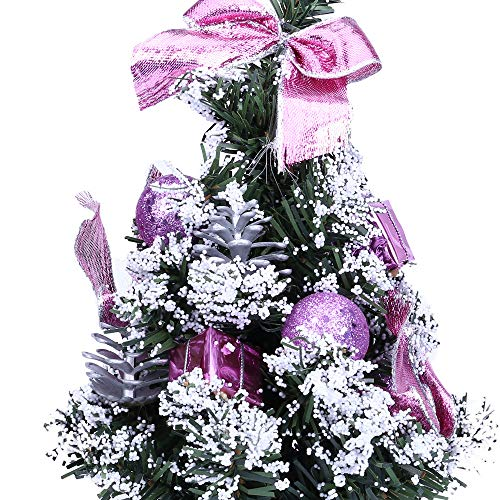 Christmas Tree Desktop, Artificial Tabletop Mini Christmas Tree Decorations, Festival Xmas Party Decor Gifts (25cm, Purple) by Sunshinehomely (Image #2)