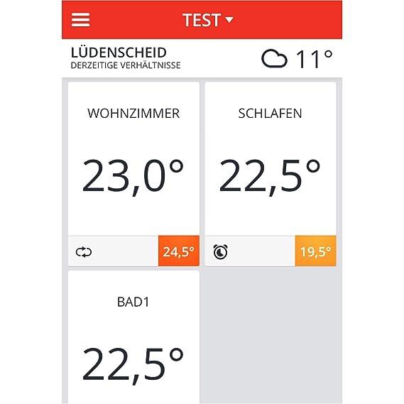 Homexpert Evohome - Termostato para el control de la temperatura por zonas, via smartphone, color blanco: Amazon.es: Hogar