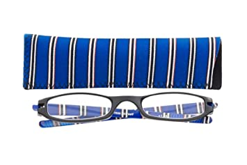 d58a246804 ICU Eyewear Zoom Expressions +1.25 Magnification Half-Eye Frame Reading  Glasses (12941 Blue