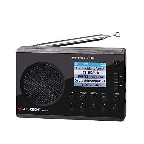 Albrecht 27370 Radio Digital Dab FM 230 V batería Color Negro