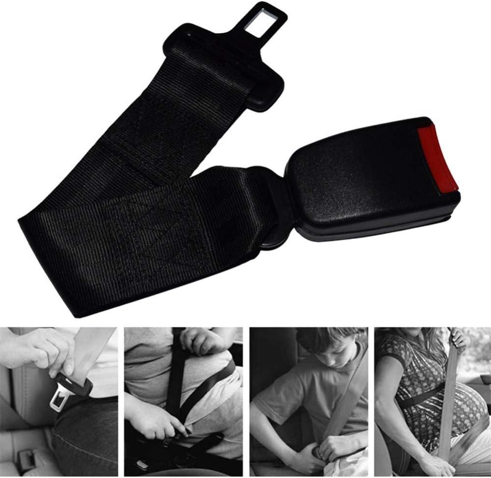 Safety Seat Belt Buckle Extender Suitable for Most Models Seat Belt Extender 2 Sets of 9-inch Car Seat Belt Clip Extender Buckles 7//8-inch Metal Tongue