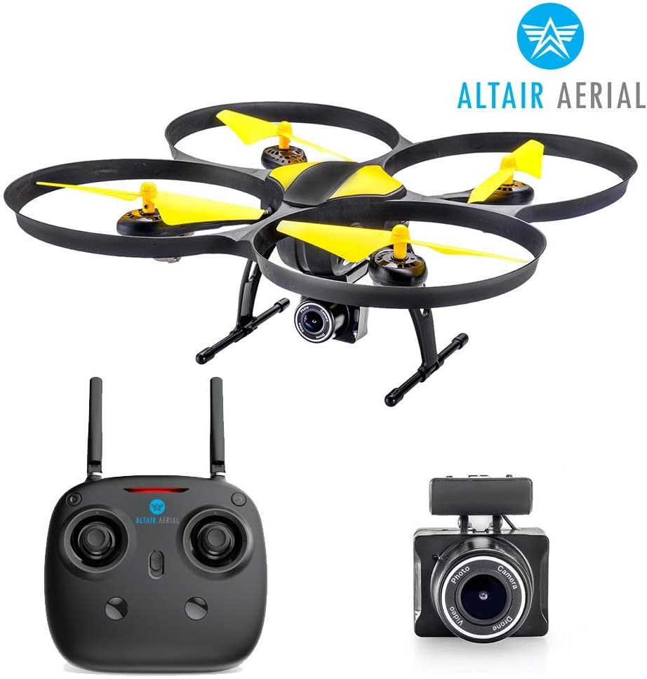 Altair 818 Hornet Beginner Drone with Camera | Free Priority Shipping | Live Video Drone for Kids & Adults, 15 Min Flight Time, Altitude Hold, Personal Hobby Starter RC Quadcopter for All Ages