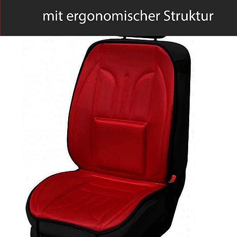2er Set Saferide Sitzauflage Auto Autositzmatte Autositzbezüge Universal Sitzschutz Pkw Sitzbezüge Polyester Rot Für Airbag Geeignet Für Vordersitze 1 1 Auto