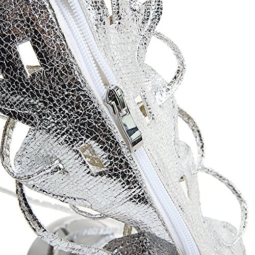 1TO9 5 Split 8 US Silver Toe M Polyurethane Ladies B Up Sandals Lace aarSq6
