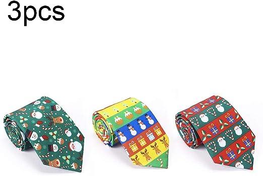 Goforwealth Corbata de Estilo navideño, Material de Fieltro ...