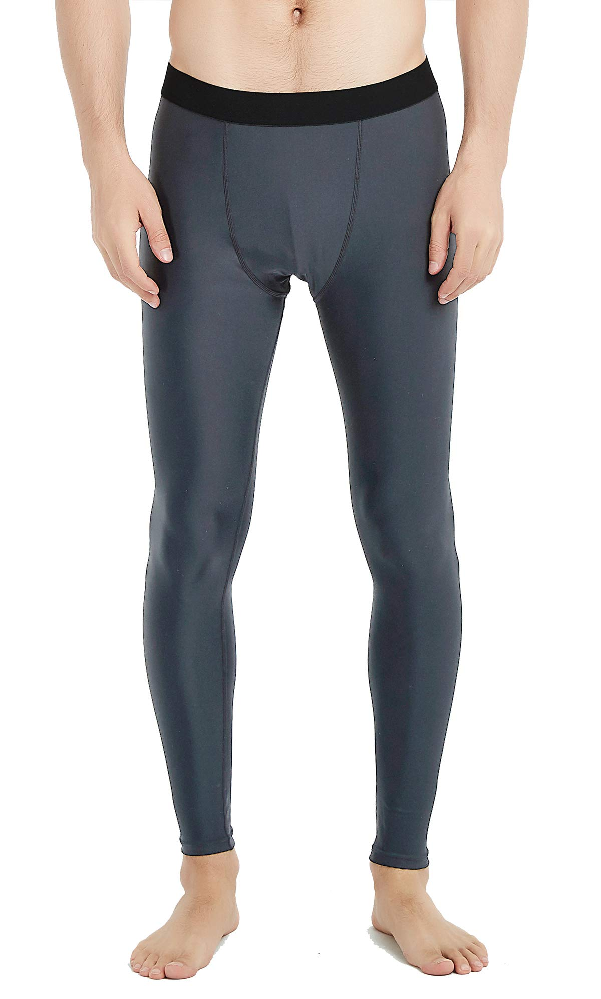 UPF 50+ Men's Surfing Leggings Sun Protection High-Waist Tummy Control Swimming Pants(6006gray-M) by Lemorecn