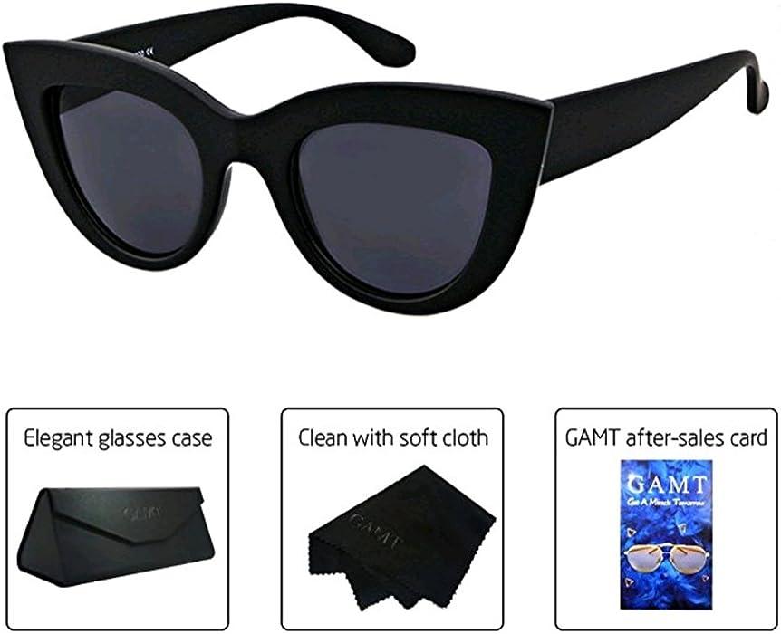 Amazon.com: GAMT Retro Cat Eye Oversize Sunglasses For Women with ...