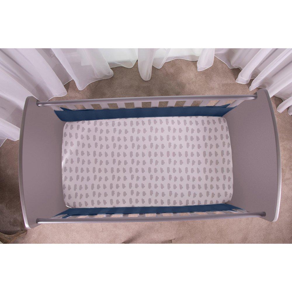Blue Safe Dreams Safe Breathe 2 Sided Cot Wrap Bumper