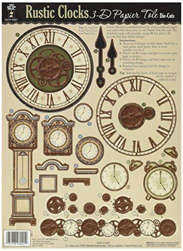 Tole Clock (3-D Papier Tole Die-Cuts-Rustic Clocks)