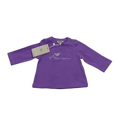 Armani bebé niñas morado cuello redondo camiseta de F/S ...