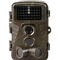 Medion S49014 MD 87586 Wildkamera, 2,4 Farbdisplay, Spritzwassergeschützt, Bewegungsmelder, 5 MP CMOS Sensor, Mikrofon, Lautsprecher, Videomodus, grün