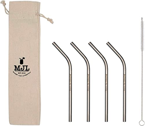 Mason Jar Lifestyle Short Thin Bent Stainless Steel Straws