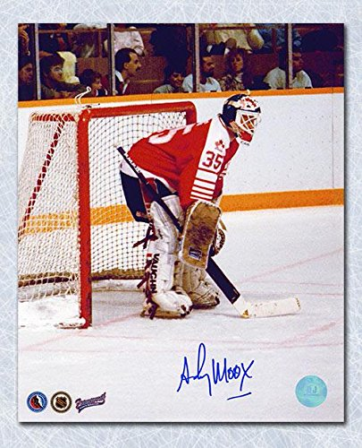 ANDY MOOG Team Canada SIGNED 8x10 1988 Olympic Photo - Autographed NHL Photos