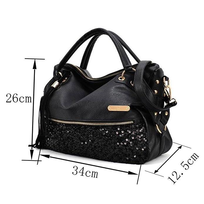 Qianle Fashion Sexy Leopard Print/ Black Bag Paillette Shoulder ...