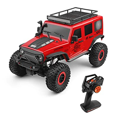 GoolRC WLtoys 104311 RC Car, 1/10 Scale 2.4G 4WD Jeep Car SUV, Brushed Motor Remote Control Off-Road Crawler Car RTR for Kids and Adults: Toys & Games