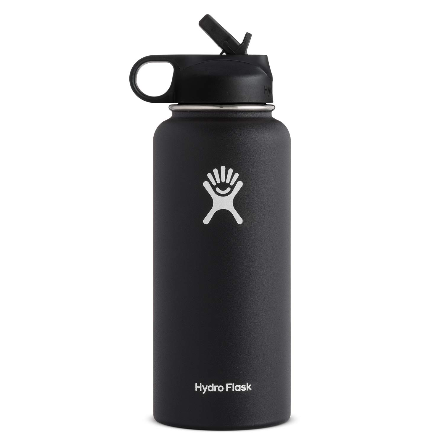 Hydro Flask Water Bottle - Stainless Steel & Vacuum Insulated - Wide Mouth  with Straw Lid - Multiple Sizes & Colors