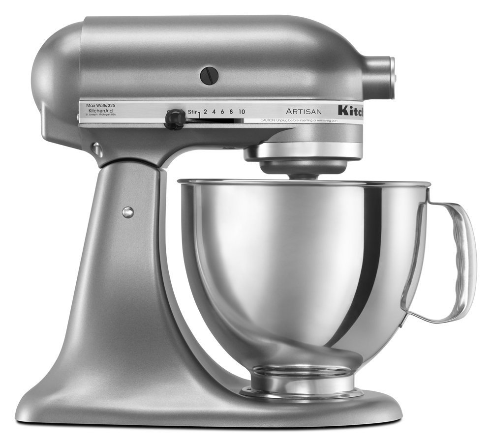 Kitchen Aid 5KSM150 Stand Mixer Medallion Silver - 220 Volts Only! Will Not Work In The USA