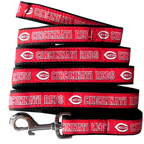 Pets First MLB Cincinnati Reds Dog Leash, Small