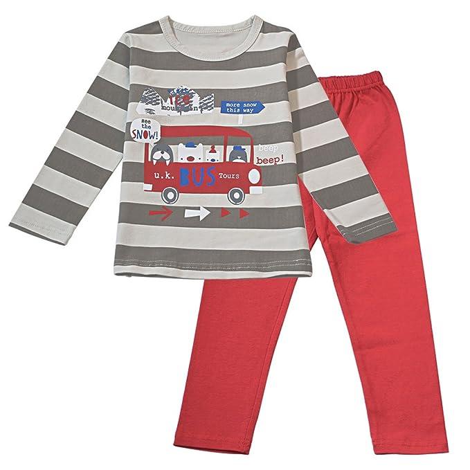 BINIDUCKLING - Pijama dos piezas - para niño gris gris 4-5 Años