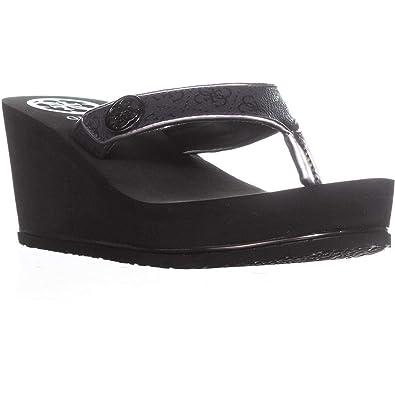 5b49b10189 Amazon.com | GUESS Women's Sarraly Wedge Sandal | Platforms & Wedges